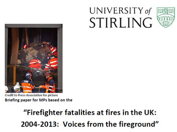 Concise report on firefighter fatalities at fires 2015