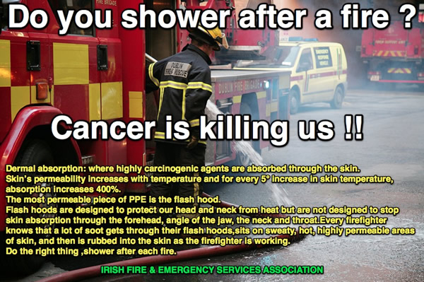 Firefighter cancer is a looming personal catastrophe for each and every fire fighter. Cancer is the most dangerous and unrecognised threat to the health and safety of our nation's firefighters.  Multiple studies across the globe, including the soon to be released NIOSH cancer study, have repeatedly demonstrated credible evidence and biologic creditability for statistically higher rates of multiple types of cancers in firefighters compared to the general American population